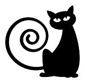 siluett katt
