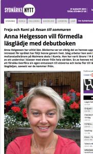 Anna Helgesson debutboken