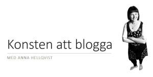 Konsten att blogga