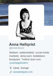 anna hellqvist på twitter