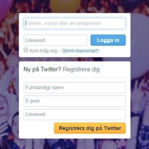 registrera dig på twitter