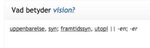Vad betyder vision